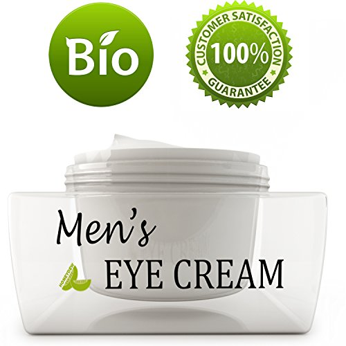 Natural Eye Cream for Men - Best Mens Treatment for Puffiness - Dark Circles and Wrinkles with Calendula and Sesame - Anti Aging Benefits and USA Made