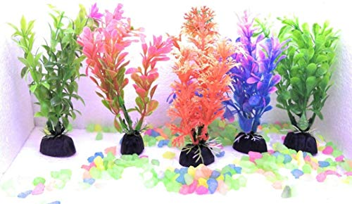 The Oceans-Multicolour Plants for Fishes Tank Decoration Set of 5 (B082L2GQZ7) Amazon Price History, Amazon Price Tracker