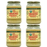 YS Organic Bee Farms CERTIFIED ORGANIC RAW HONEY 100% CERTIFIED ORGANIC HONEY Raw, Unprocessed, Unpasteurized - Kosher 32oz, 4pack