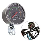 ZJchao NEW Resettable Analog Bike Speedometer Odometer Black Classic Style Stopwatch for exercycle & Bike