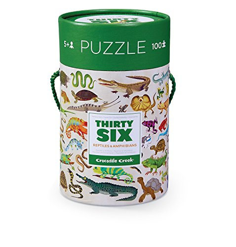Crocodile Creek Sea Animals (Crocodile Creek Thirty-Six Reptiles 100Piece Jigsaw Puzzle In Canister Puzzle)