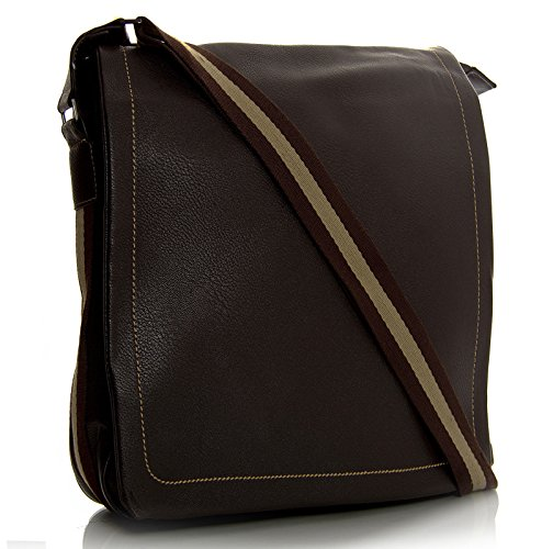 Big Shop Vegan Shoulder Bag Coffee Travel Handbag Leather Mens Medium Multi Mesenger Pockets ppxHrRqB5w