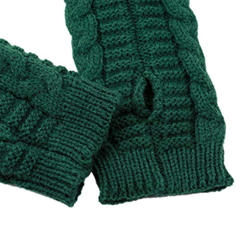 Honel ニット 手袋 指出す ツイストスレッド 防寒 フィンガーレスグローブ 秋 冬 レディース