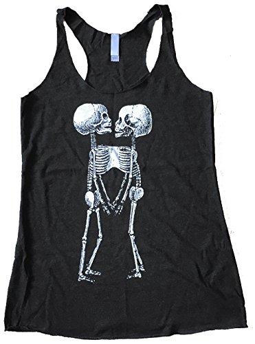 Tank Oak - Friendly Oak Women's Skeleton Twins Tank top - S - Heather Black
