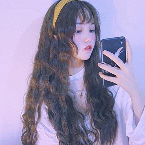 Amazon Com Bangs Long Hair Wig Large Air Volume Big Waves The