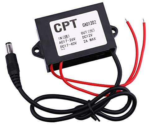 Yeeco Waterproof AC17-26V/DC 17-40V to 12V 2A Power Supply Voltage Regulator AC to DC Converter Step DownTransformer AC to DC DC to DC for CCD Camera CCTV System Gateway Other - Ccd Stabilizer