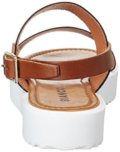 Bianco Flatform Strap Sandal Jfm17, Women's Open Toe Sandals Gold (Gold)