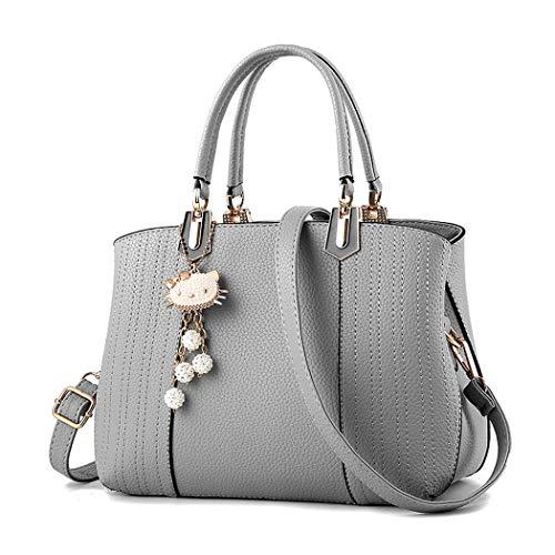Mujer y bolsos clutches y Shoppers hombro Gris Carteras de de bandolera Bolsos mano rr1Rqaw