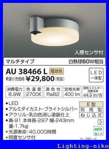 コイズミ照明 防雨型シーリング AU38466L B00ESBM9RY 14130