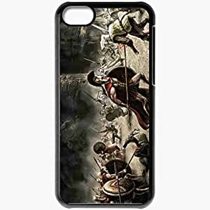 Personalized iPhone 5C Cell phone Case/Cover Skin Art 300 spartans battle war weapons films Black