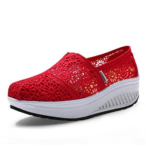 o Conducci de Oto mujer Primavera Zapatos Lienzo y Ons Slip Mocasines vp6qwxC