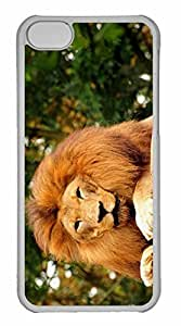 iPhone 5C Case, Personalized Custom Tired Lion for iPhone 5C PC Clear Case