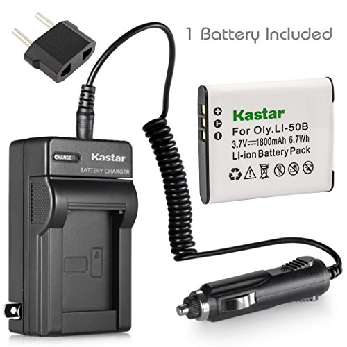 Kastar Battery and Charger for Olympus Li-50B and Olymous Stylus 1010 Stylus 1020 Stylus 1030 SW Stylus 9000 Stylus 9010, Tough 6000 6010 8000 8010 ()