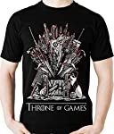 Camiseta Throne of Games Parodia Geek Gamer Camisa Blusa