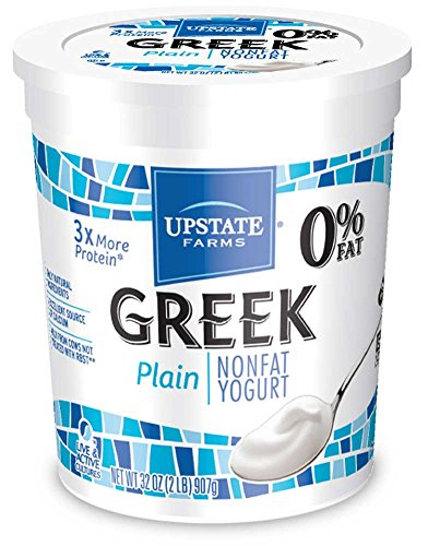 Upstate Farms Greek Nonfat Blended Plain Yogurt, 32 Ounce -- 6 per case. by Upstate Niagara Coop (Image #1)