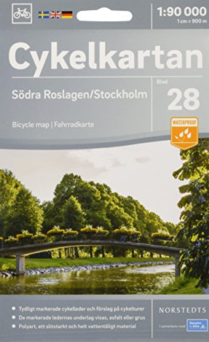 Roslagen South / Stockholm cycling map 2018