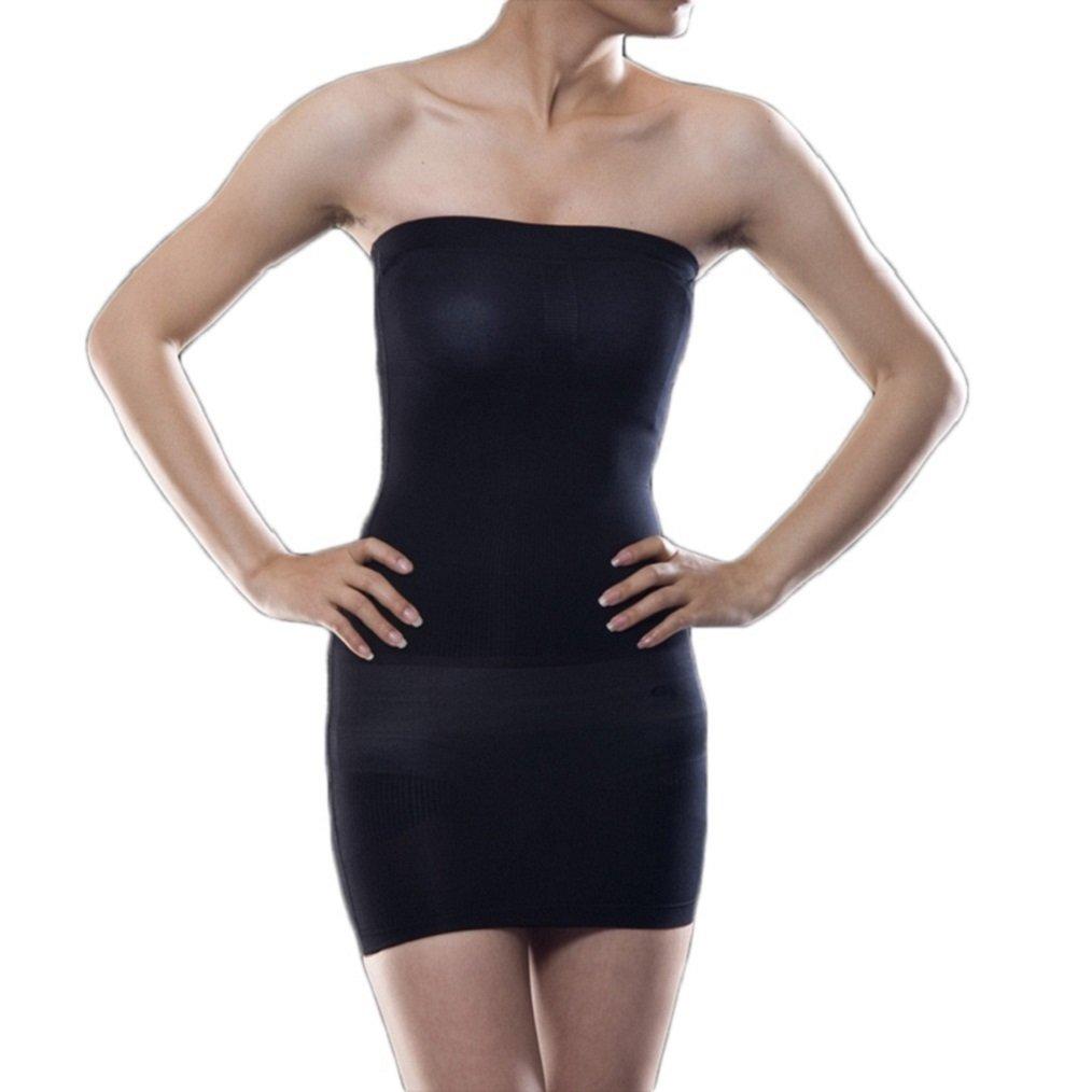 Valentina Womens Strapless Full Body Slip Shaper Seamless Smoother Tube Slip Under Dresses Hot Comfortable Bodyshaper