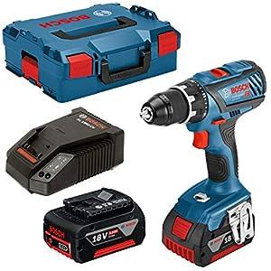 Bosch Professional 06019H4101 Trapano Avvitatore GSR 18V-28, 2 Batterie da 5.0 Ah, Coppia di Serraggio 63 NM, Valigetta… 51M2fRezt7L. SS300