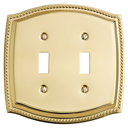 Baldwin Estate 4790.030.CD Rope Double Toggle Wall Plate in Polished Brass, 5.9