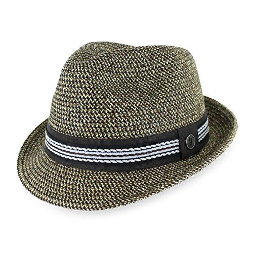 c9689dc4f792b1 Jual Belfry Men Women Summer Straw Trilby Fedora Hat in Blue Tan ...