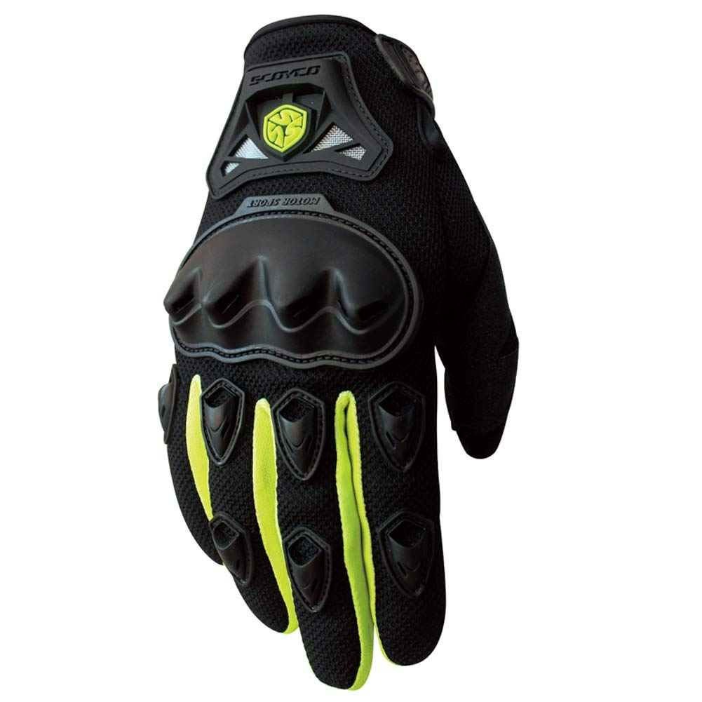 AINIYF Full Finger Motorcycle Gloves | Summer Men's Drop-Off Tactical Gloves Electric Car Racing Off-Road (Color : Green, Size : XL)