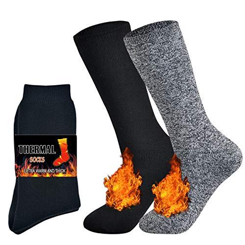 Jormatt 2 Pairs Thick Thermal Socks Soft Insulated Heated Boot
