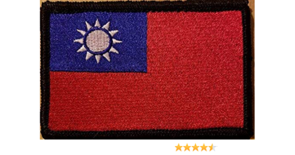 10 Pcs Taiwan ROC Flag Embroidered Patches 2.5x1.5 iron-on