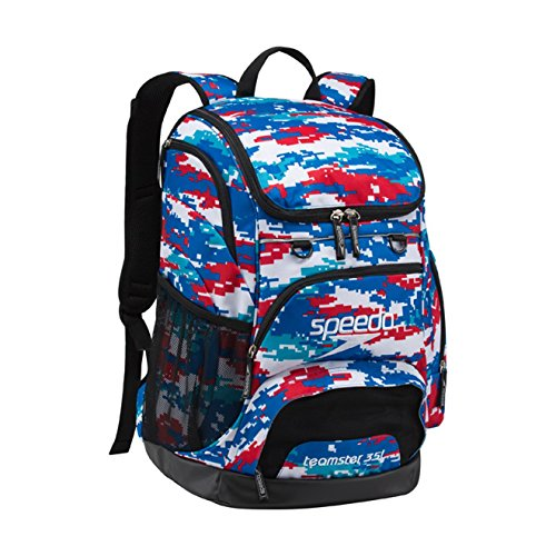 Speedo Teamster Backpack, Red/White/Blue, Large/35 L