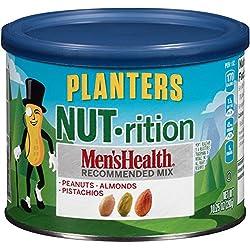 Planters Nutrition Men's Health Almond Peanut Pistachio, 10.25 Ounce (Pack of 3)