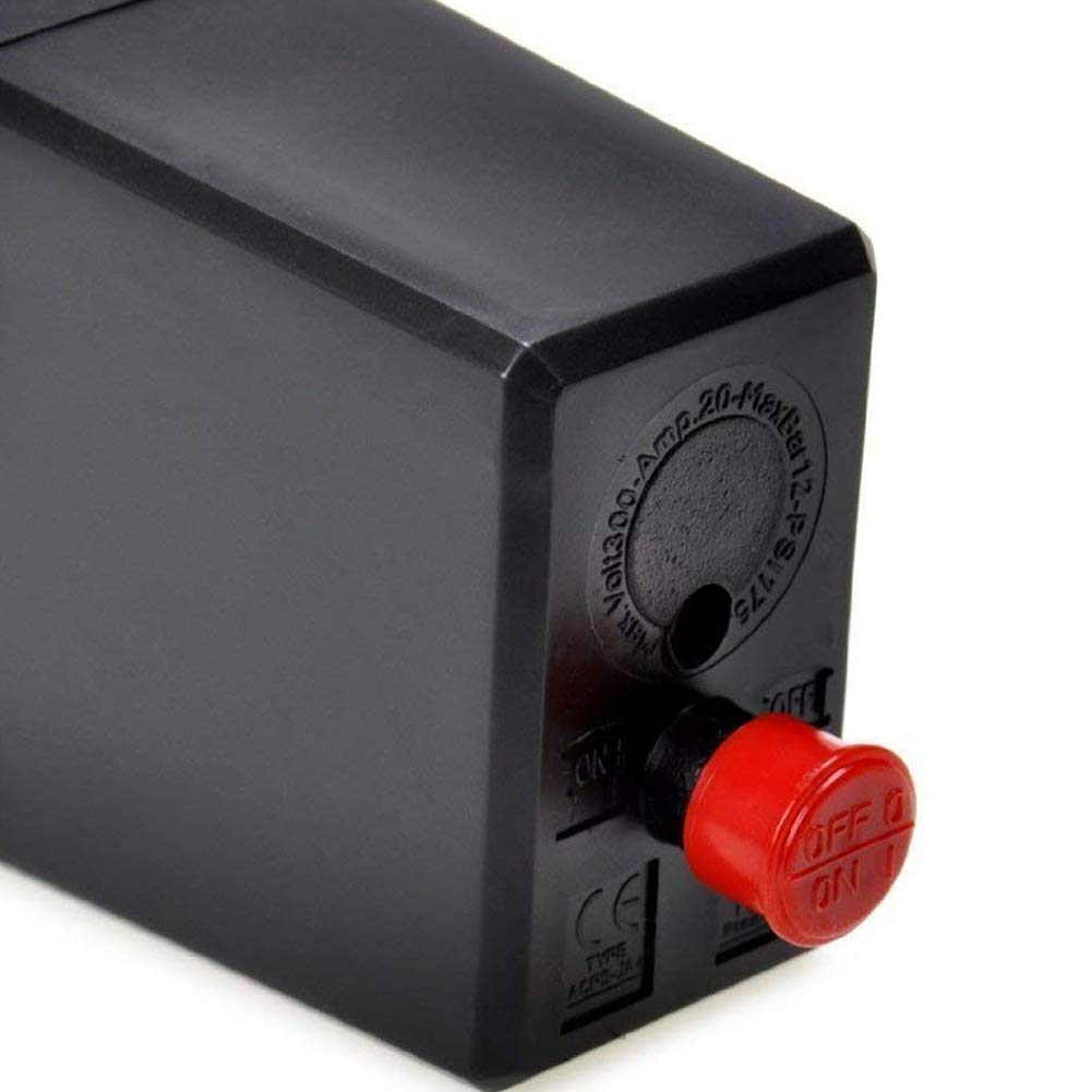 ndier Regulador del Compresor de aire de repuesto manómetros monofásico Válvula de seguridad presostato de aire para usos Las arduas DIY DIY: Amazon.es: ...