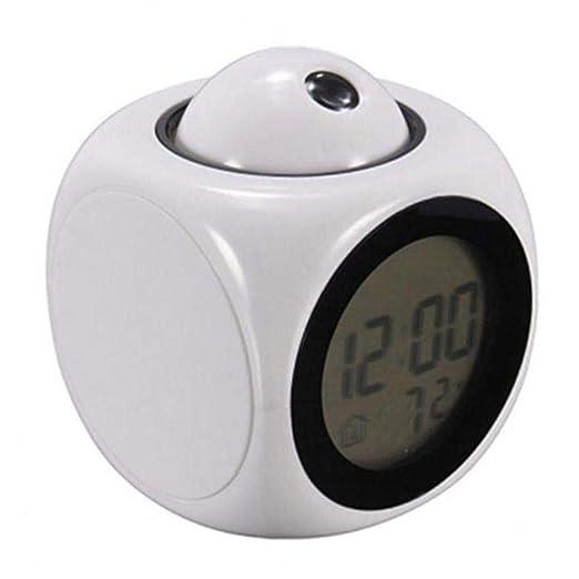 Kisshes Relojes de Proyector con Control de Voz LED Control de Voz ...