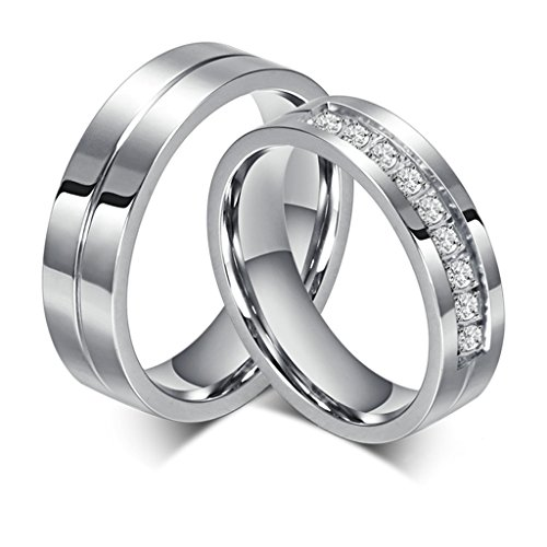 Bishilin Stainles Steel Promise Couples