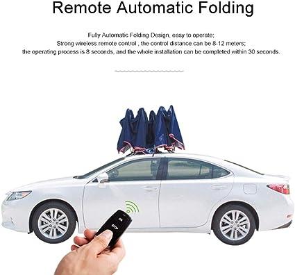 JYWAJAA Auto Copre Copertura Auto Automatiche per Automobili all Weather Controllo Impermeabile//Mobile Applicazione Intelligente Una Ritrazione Chiave//Ricarica Solare Copertura dellautomobile