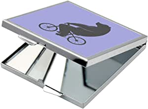Bear driving a bicycle Printed Pocket Square Mirror