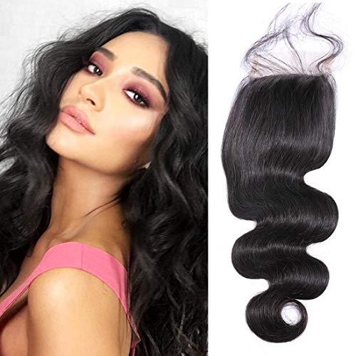 Original Queen Brazilian Body Wave Closure Unprocessed Human Hair Lace Closure Free Part Closure Frontal Natural Black Color