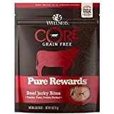 Image of Wellness Core Pure Rewards Natural Grain Free Dog Treats, Soft Beef Jerky Bites, 4-Ounce Bag