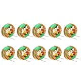 uxcell 10Pcs Horizontal Toroid Magnetic Inductor Monolayer Wire Wind Wound 2mH 6A Inductance Coil