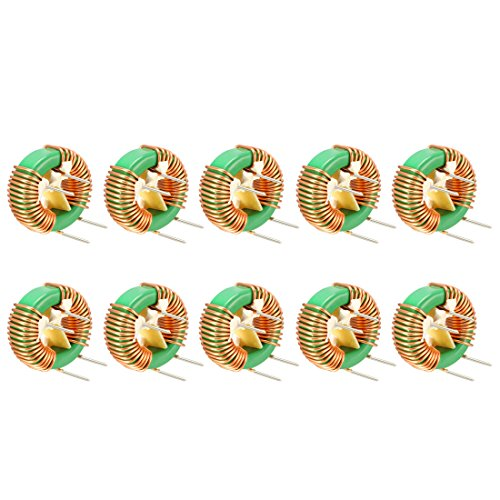 uxcell 10Pcs Horizontal Toroid Magnetic Inductor Monolayer Wire Wind Wound 2mH 6A Inductance Coil by uxcell