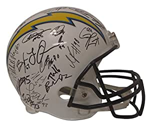 2017 Los Angeles Chargers Team Autographed Hand Signed Riddell Full Size Football Helmet with 44 Signatures Total and Proof Photos of Signing, COA, Antonio Gates, Melvin Gordon, Joey Bosa