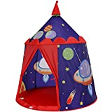 SONGMICS Prince Castle Play Tent for Boys Toddler, Indoor and Outdoor Playhouse, Portable Pop Up Play Teepee with Carry Bag, Gift for Kids, ASTM F963 Certified, Blue ULPT01BU