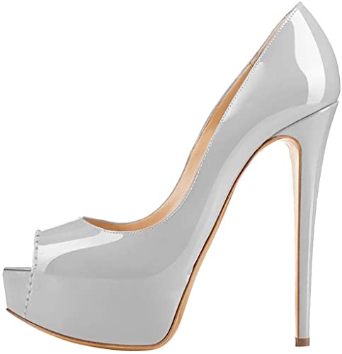 Calaier Mujer Caroad Tacón De Aguja 15CM Sintético Ponerse Sandalias de vestir  Zapatos  Amazon.es  Zapatos y complementos 4bd2a17bb1f2