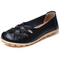 cior Mujer Piel Auténtica Loafers Casual conducción mocasín zapatos interior plana Slip-On Zapatillas