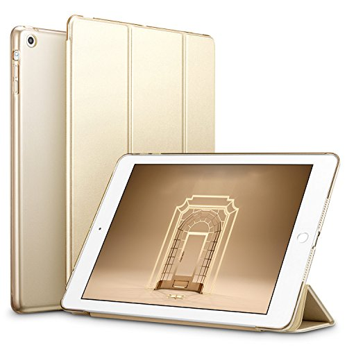 ESR Yippee Trifold Smart Case for iPad Mini 1/2/3, Lightweight Trifold Stand Case with Auto Sleep/Wake, Microfiber Lining, Hard Back Cover for iPad Mini 1/Mini 2/Mini 3, Gold