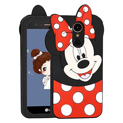 (Allsky Case for LG Stylo 4 Plus(Q710) /LG Q Stylus,Cartoon Soft Silicone Cute 3D Fun Cool Cover,Kawaii Unique Kids Girls Teens Animal Character Rubber Skin Shockproof Cases for LG Stylo4 Minnie Mouse)