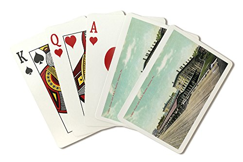 Pennsylvania Railroad Station (Altoona, Pennsylvania - Logan House and PA Railroad Station Views (Playing Card Deck - 52 Card Poker Size with Jokers))