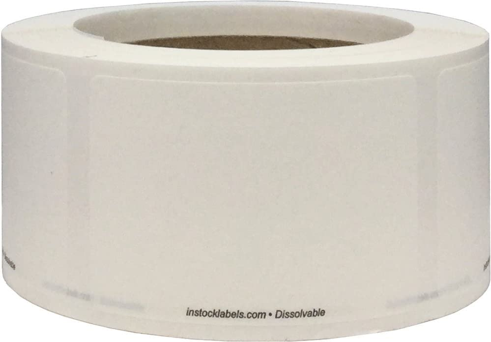 Dissolvable Blank Shelf Life Labels for Food Rotation Prep 2 x 3 Inch 500 Adhesive Stickers