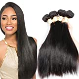 Goldfinch Mink 10A Straight Hair 4 Bundles 100% Unprocessed Brazilian Human Hair Extensions 18 20 22 24 inches Virgin Hair Nature Black
