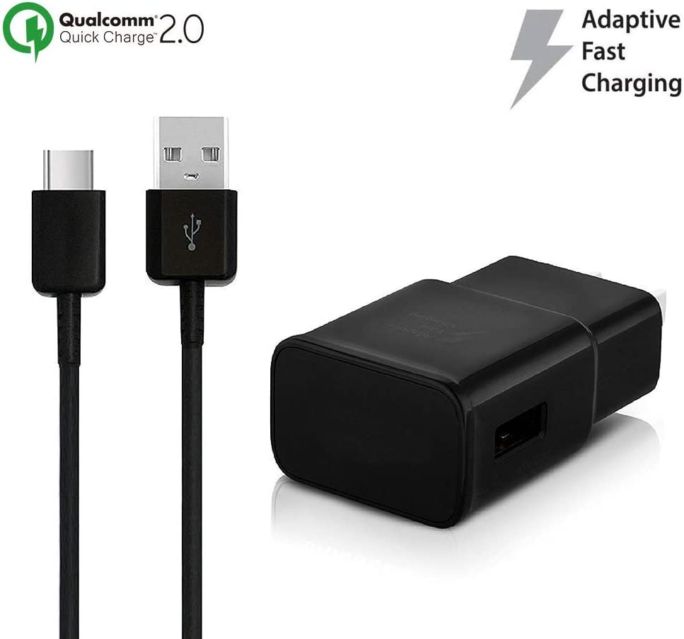 OEM Adaptive Fast Charger Works for BLU Bold N1 15W with Certified USB Type-C Data and Charging Cable. Black 3.3FT 1M Cable