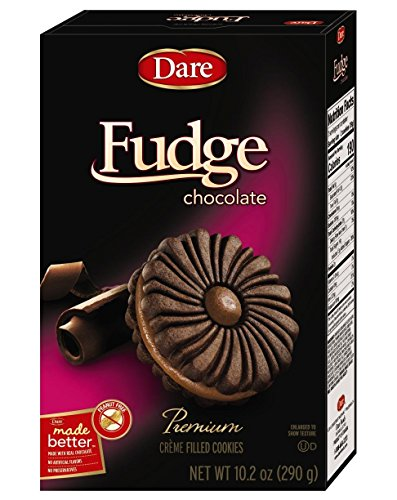 (Dare, Fudge Chocolate Premium Creme Filled Cookies 10.2 ounce)