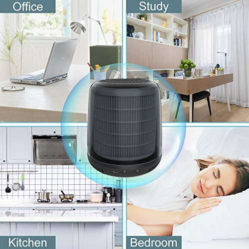 QUEENTY Mini Air Purifier - Desktop Air Cleaner with True HEPA Filter Odor Allergies Eliminator for Smoke, Dust, Home, Office and Pets FG05